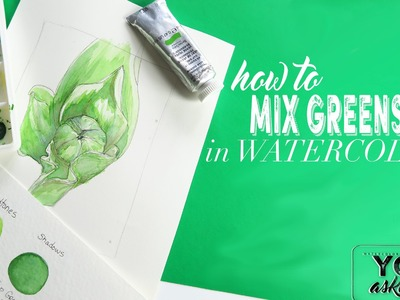 How to Mix Greens in Watercolor
