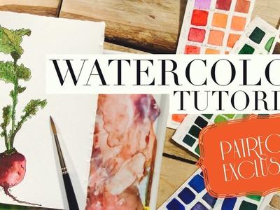 How to use Watercolors full workshop: Botanical Art