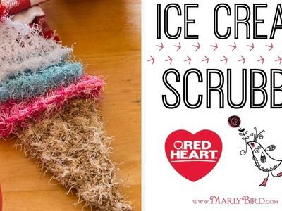 Ice Scream Scrubby Dishcloth