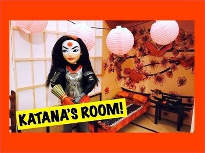JAPANESE DOLL ROOM IN A BOX TUTORIAL FOR DC SUPERHERO GIRLS KATANA