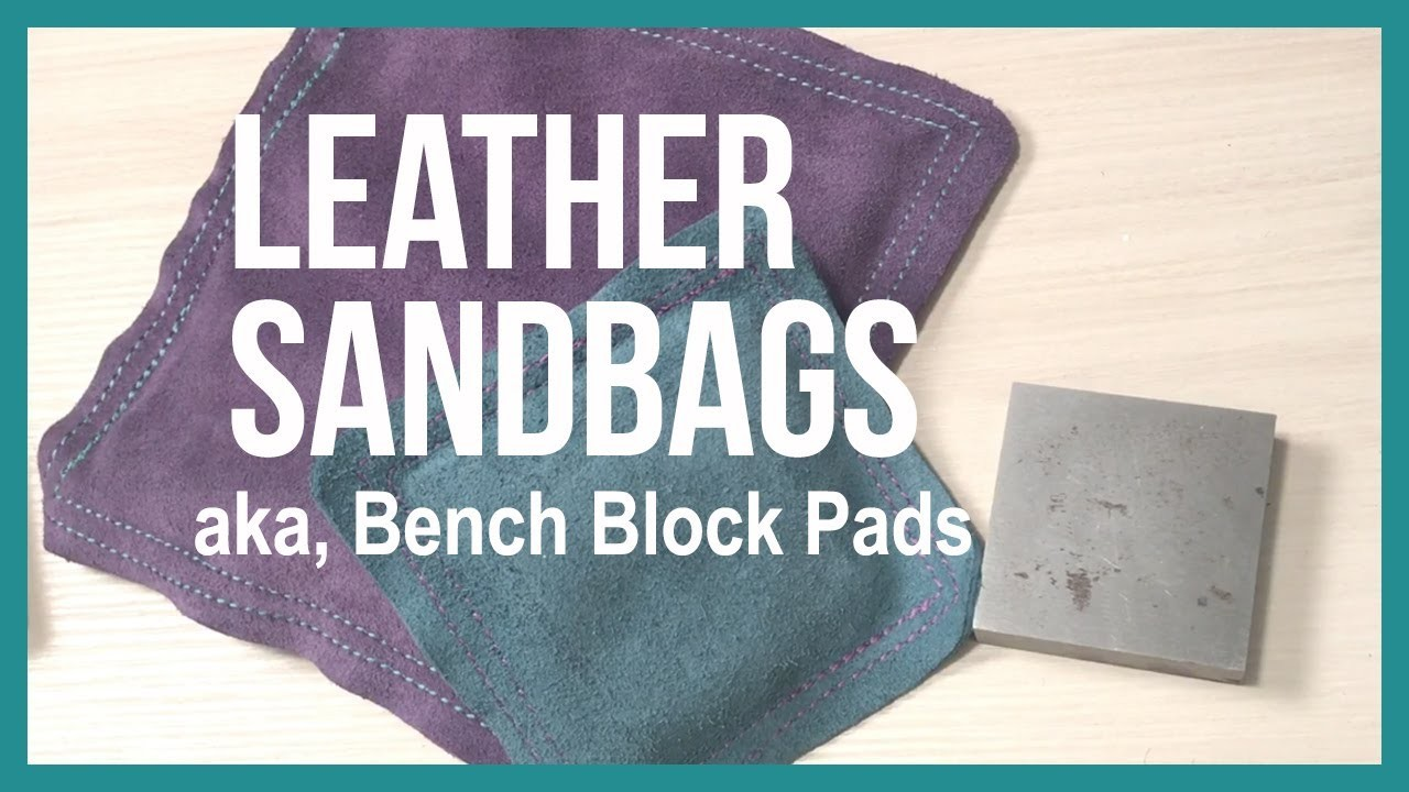 Leather Sandbag, a Pad for Your Bench Block to Deaden the Sound - Beaducation.com