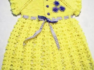 New Design for handmade woolen sweater - one colour baby girl frock   sweater design knitting