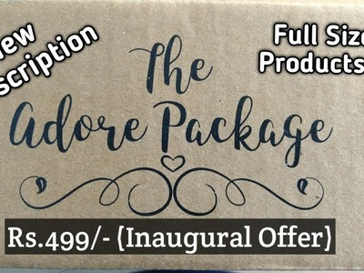 **New Subscription Box** The Adore Package | Full size Beauty Products | Merriness