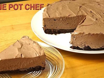 No Bake Chocolate Cheesecake | One Pot Chef