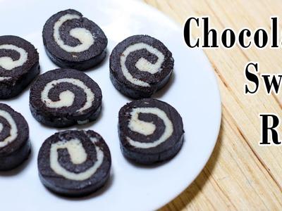 No Bake Chocolate Swiss Roll Recipe | Chocolate Recipes | How To Make Chocolate Swiss Rolls - Ep-227