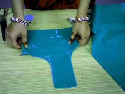 Perfect way of  Blouse cutting and stitching part 1