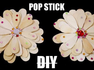 Pop Stick Flower | How To Make Flower using Pop Stick. Ice Cream Stick | Integrators