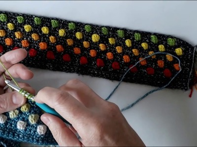 Scheepjes Hygge CAL Week 1 - making my bobble stitch bobblier