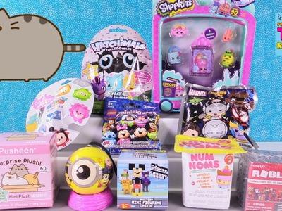Shopkins Pusheen Minions Mineez Hatchimals Num Noms Blind Bag Toy Review | PSToyReviews