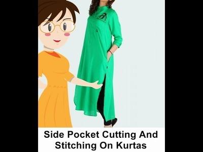 Side Pocket Cutting And Stitching On Kurtas - Tailoring With Usha