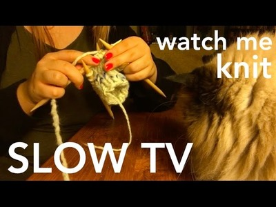 SLOW TV : Watch me knit from start to finish - 50 minute relaxing video