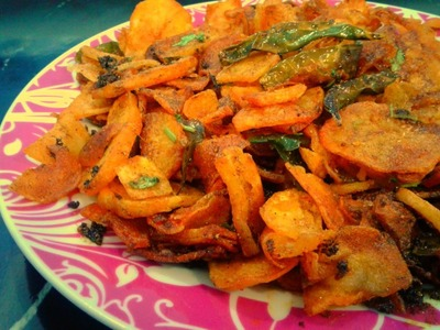 Spicy,Crispy And Crunchy Potato Chips(Side Dish).Homemade.FoodChenBySana