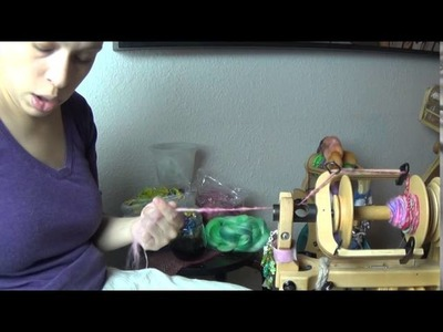 Spinning a Corespun Yarn with a Tencel Core