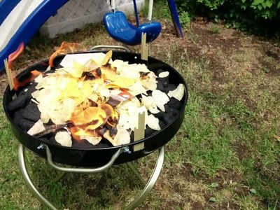 Starting a BBQ with Potato chips and Doritos, no lighter fluid.