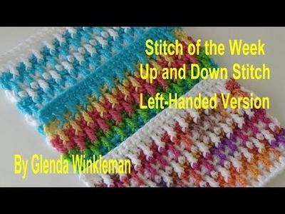 Stitch of the Week #217 Up and Down Stitch LEFT HANDED VERSION