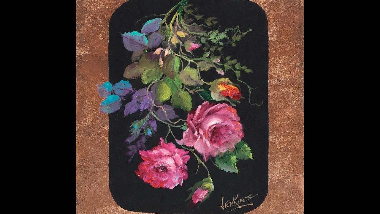"The Beauty of Oil Painting, Series 3, Episode 1 "" Roses and Gold Leaf """