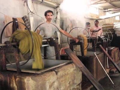 The making of handmade rugs
