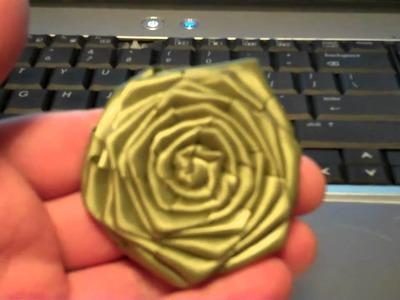 Tonight's Ustream and my Satin Ribbon Roses