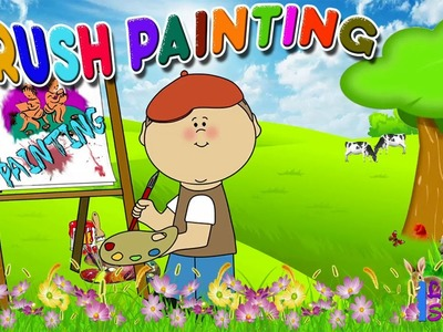 Tooth Brush Painting By Kid | Toothbrush Painting for preschool children