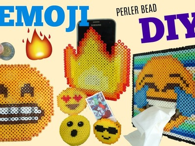5 DIY Perler Bead Emoji Room Decor