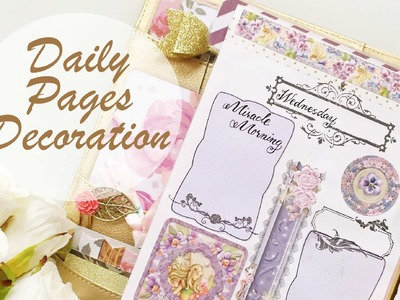 #6 April Daily Pages Decoration   Decorate with Me   Kikki.K Planner