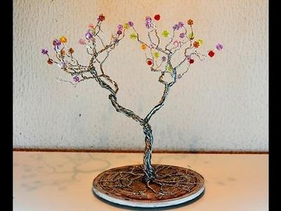 Arbol decorativo de alambre. decoration wire tree