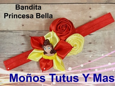 BANDITA FLORES DE SATIN Paso a Paso BEAUTY AND THE BEAST HEADBAND Tutorial DIY How To PAP Video 165
