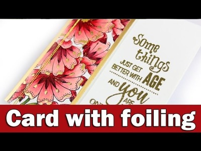 Card with foiling   Penny Black Day 5