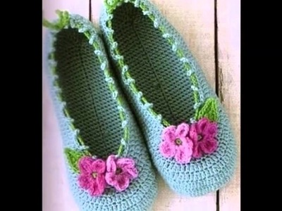 Crochet Knitted Slippers for Women