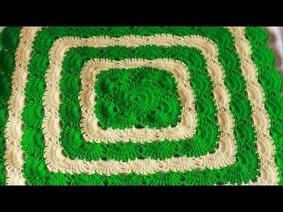 Crochet Virus Blanket Part 2 of 2  -Square Baby Blanket Crochet- Nagu's Handwork