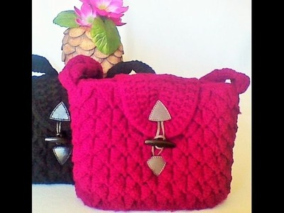 CROCODILE STITCH TUTORIAL for a Ladies' Handbag with 4 inches wide base