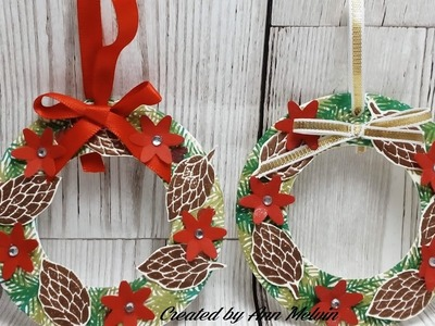 Cute Xmas wreath tree decorations using Peace this Xmas