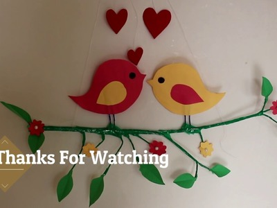 DIY Cute sparrow making || Wall Decoration Idea