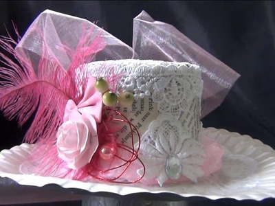 Diy vintage victorian inspired ladies riding hat made from a paperplate and yoghurt cup
