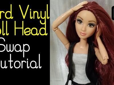 Doll Custom Tutorial: Placing Hard Vinyl Head on New Body (ft. Project MC2 Doll & MTM Blue Top)