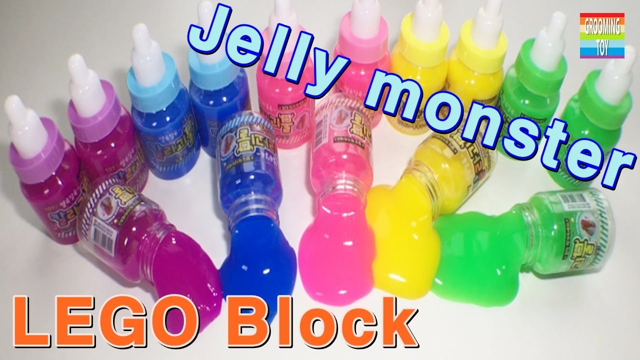 For Kids Jelly Monster Pearl Jello Lego Block Toy Learn Colors Kinetic Sand