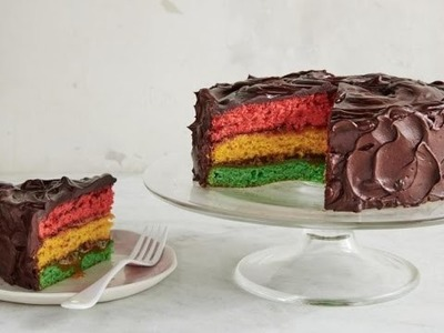 Giant Italian Rainbow Cookie Cake | Food Network