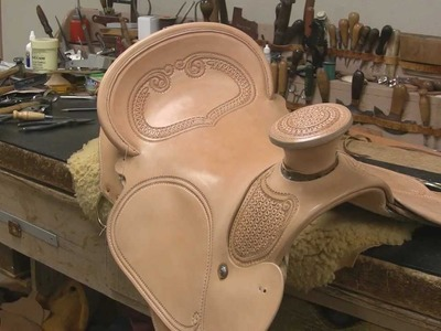 Hand Sewing and Stitching a Saddle With Leather Crafter and Saddle Maker Bruce Cheaney