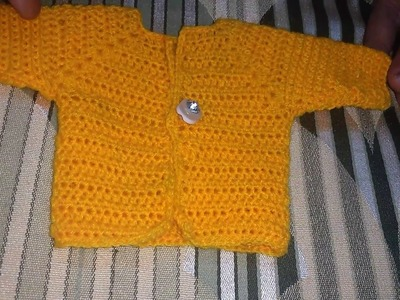 HINDI | CROCHETED BABY SWEATER FOR BEGONNERS