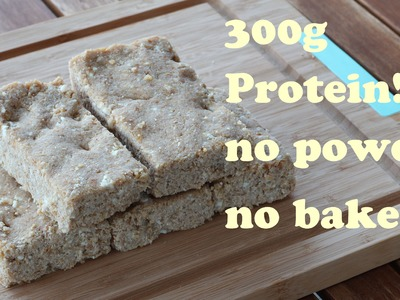 Homemade protein bar without powder