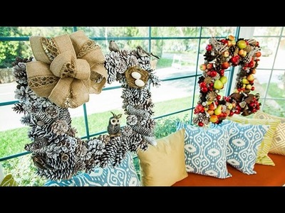 How To - Amy Marella's Square Fronted Pine Cone Wreaths - Hallmark Channel