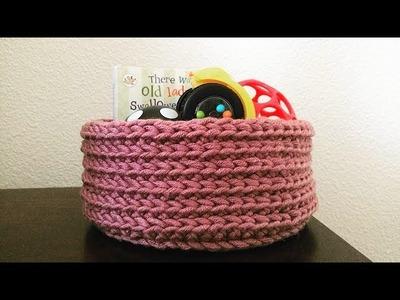 How To Crochet A Storage Basket, Lilu's Handmade Corner Video # 154