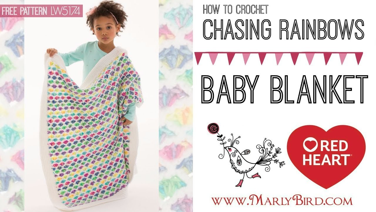 How to Crochet Chasing Rainbows Baby Blanket