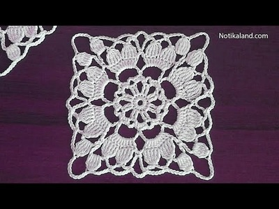 How to crochet easy for beginners  Crochet motif dress pattern