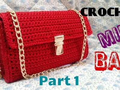 How to Crochet Mini Bag Part 1 - Hướng dẫn móc túi mini P1