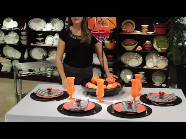 How to Decorate a Table With Basketballs : Table Designs