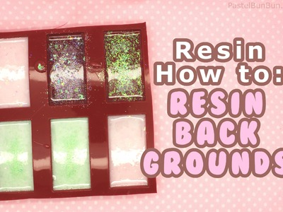 HOW TO - Easy Resin Glitter Backgrounds 10-27-14