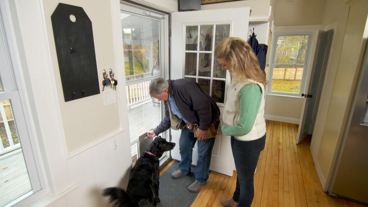How to Install a Storm Door with a Dog Door