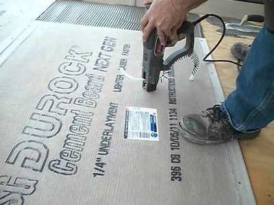 How to install backer board.durock for floor tile
