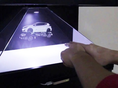 How to make 3D BIG Hologram  for 1 day